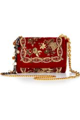Dolce & Gabbana Miss Charles Embroidered Velvet Shoulder Bag - Lyst