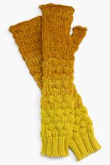 Echo Ombré Bobble Fingerless Gloves - Lyst