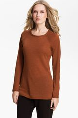 Eileen Fisher Shaped Merino Wool Top - Lyst