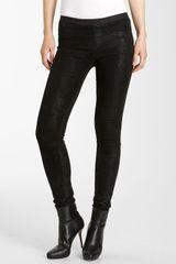 Helmut Lang Patina Lambskin Leather Leggings - Lyst