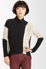 Helmut Lang Melangé Knit Turtleneck Sweater - Lyst