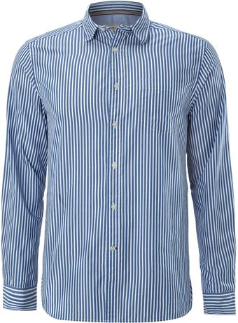 Howick Fraternity Blue Stripe Shirt - Lyst