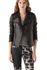 Lot78 Biker Leather Jacket - Lyst