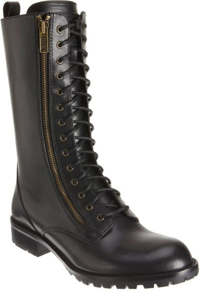 Marc By Marc Jacobs Tall Combat Boot In Black Lyst
