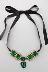 Marni Crystaldrop Ribbon Necklace - Lyst