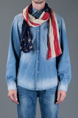 Ralph Lauren Stars Stripes Scarf in Red - Lyst