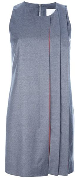 Richard Nicoll Sleeveless Pleat Mini Dress - Lyst