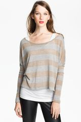 Two By Vince Camuto Metallic Stripe Sweater - Lyst