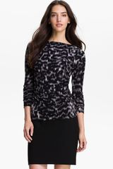 Vince Camuto Ruched Bateau Neck Top - Lyst