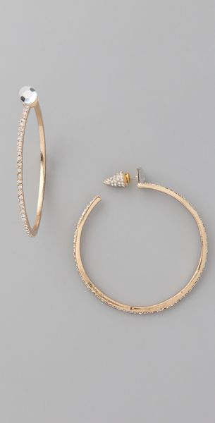 Belle Noel Hoop Earrings - Lyst