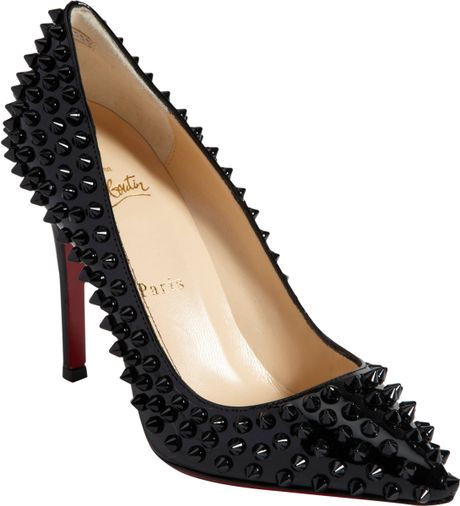 Christian Louboutin Pigalle Spikes in Black - Lyst