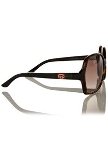 Gucci Ladies S Dark Havana Sunglasses - Lyst