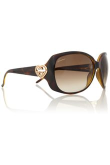 Gucci Ladies S Havana Sunglasses - Lyst