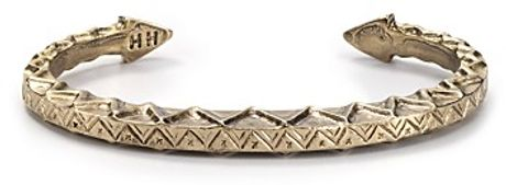 House Of Harlow 14k Gold Plated Zig Zag Tribal Bangle in Gold - Lyst