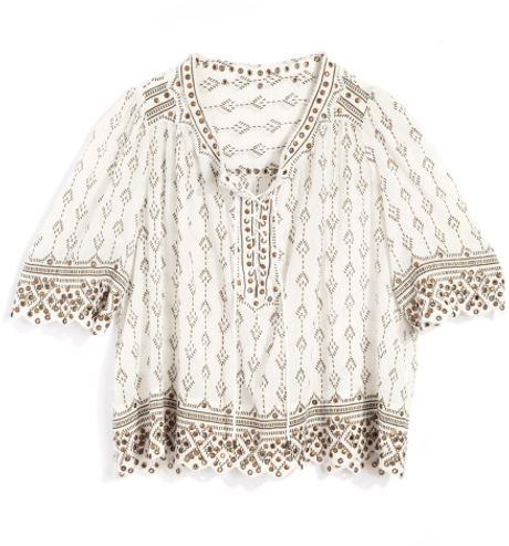 Isabel Marant Ss Anya Top in Beige (white) - Lyst