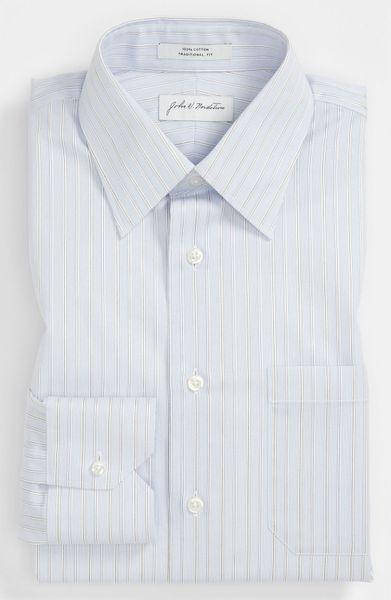 John W. Nordstrom® Traditional Fit Dress Shirt in White for Men (blue ...