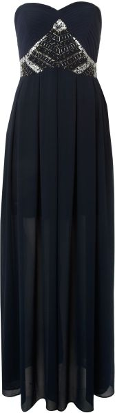 Tfnc Embellished Maxi Dress in Blue (navy) - Lyst