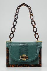 Tory Burch Lizard-Embossed Small Resin Frame Bag  - Lyst