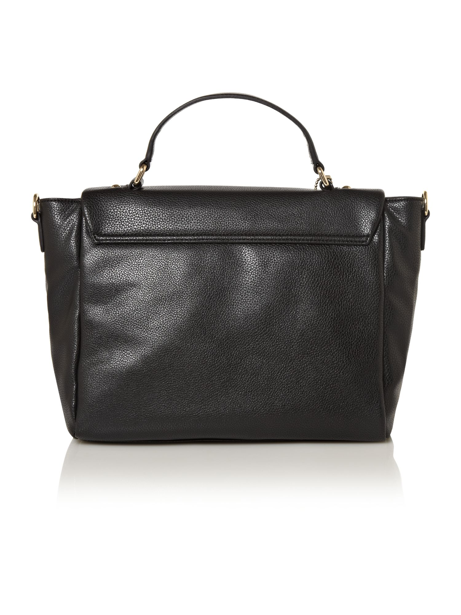 lyst dkny d charm satchel bag in black