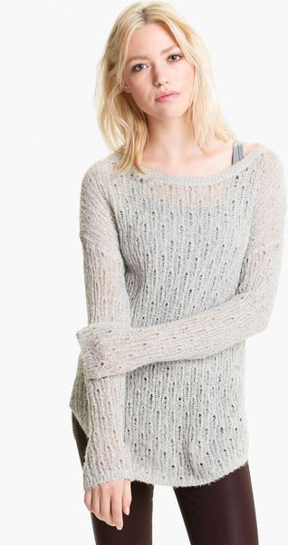 Trouvé Shimmer Pointelle Sweater - Lyst