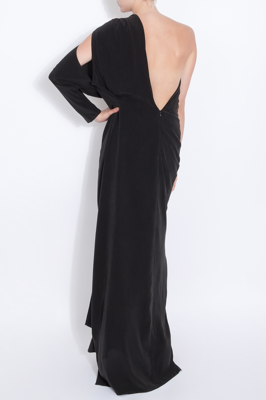 Acne black maxi dress