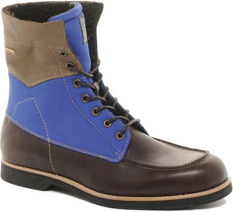 G Star Raw Gstar Carabiner Moc Toe Boots In Brown For Men