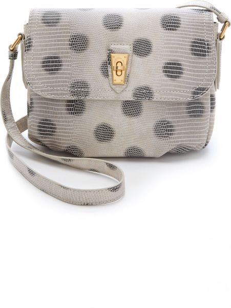 Marc By Marc Jacobs Embossed Lizzie Dots Cross Body Bag in Black - Lyst