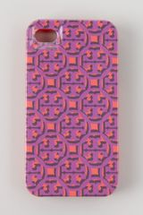 Tory Burch Logo Lattice Hard Shell Iphone 4 Case Pink - Lyst