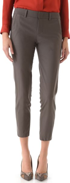 Vince Side Strap Trousers In Gray Ash Lyst