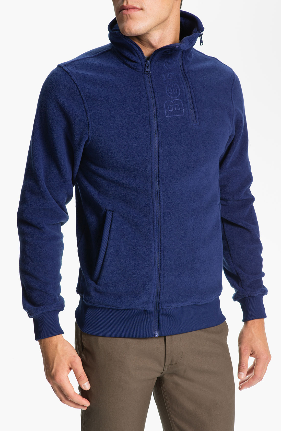 Bench Handray Fleece Jacket In Blue For Men Blue Depths