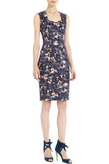 Erdem Trina Dress in Blue (floral) - Lyst