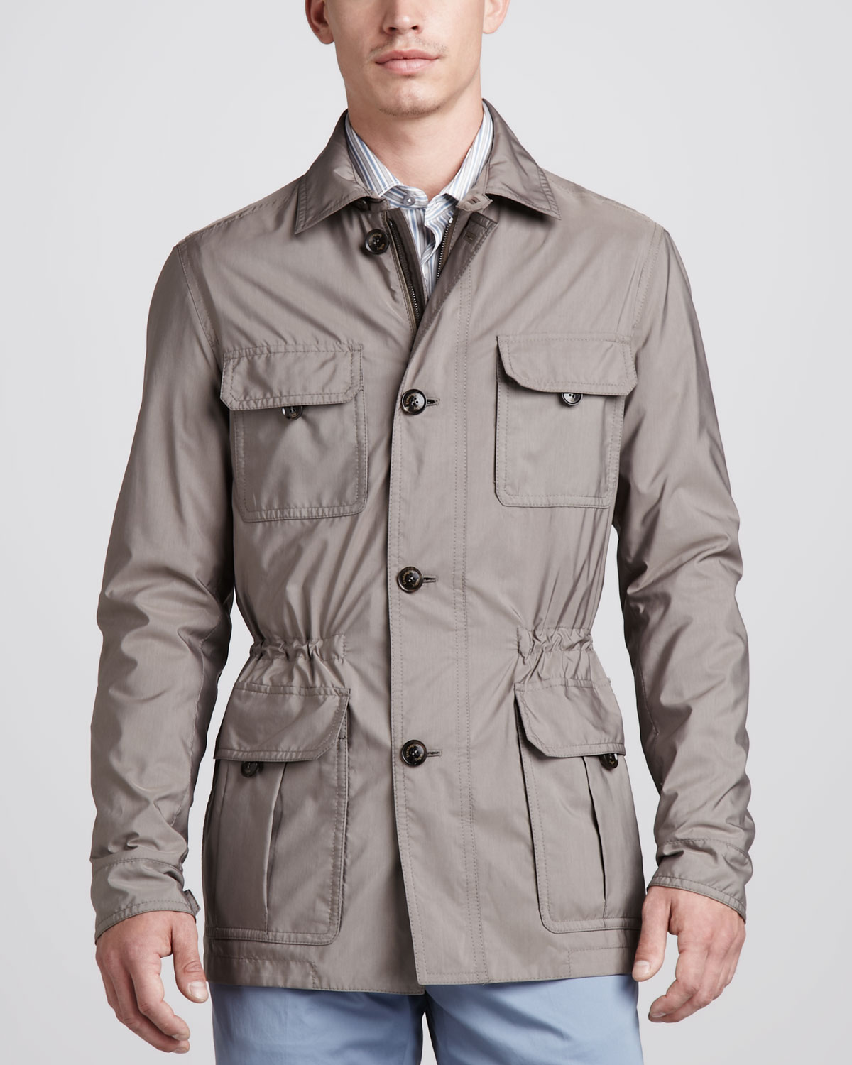 Lyst Ermenegildo Zegna Safari Jacket In Brown For Men
