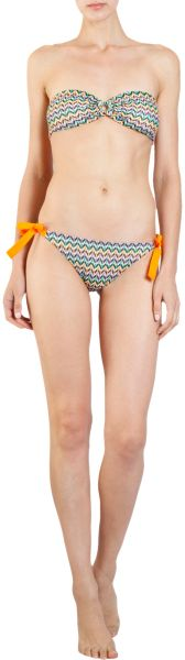 Missoni Dotted Chevron Bikini in Orange - Lyst