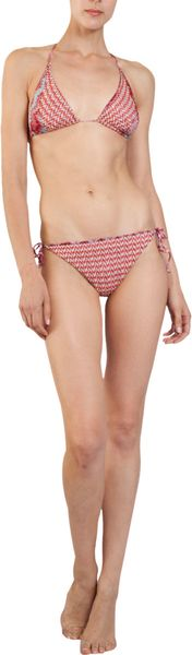 Missoni Zig Zag Reversible Bikini in Red - Lyst