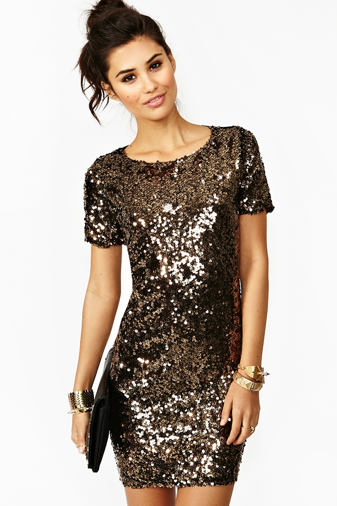 gold sequin dresses - Dress Yp