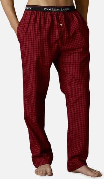 Polo Ralph Lauren Twill Lounge Pants In Red For Men Red
