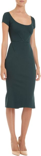 Zac Posen Cap Sleeve Dress - Lyst