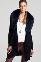 Alice + Olivia  Emerson Cascade Cardigan with Fur Trim - Lyst