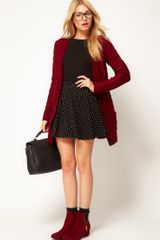 ASOS Collection Asos Skater Skirt in Spot - Lyst