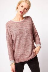 ASOS Collection Sweatshirt in Color Loop Back - Lyst