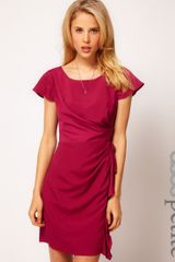 Asos Petite Exclusive Tulip Dress with Drape Side - Lyst