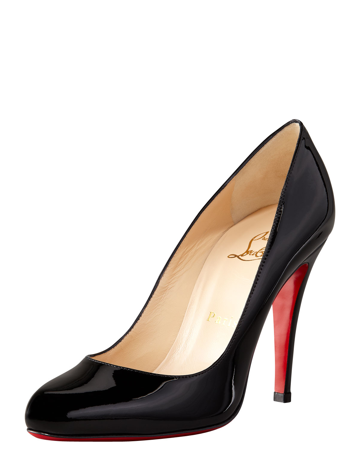 replica louboutin shoes - Christian louboutin Decollette Patent Red Sole Pump in Red (black ...