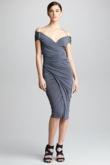 Donna Karan New York Offtheshoulder Jersey Dress - Lyst