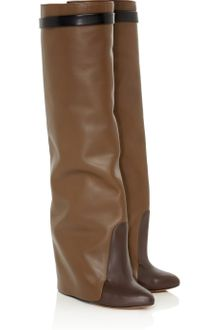 Givenchy Leather Knee Wedge Boots - Lyst