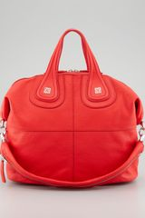 Givenchy Sugar Nightingale Medium Satchel Bag Medium Red - Lyst