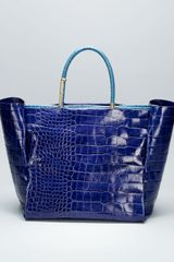 Lanvin Moon River Crocodileembossed Tote Bag - Lyst