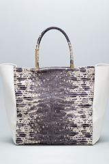 Lanvin Moon River Snakeembossed Tote Bag - Lyst