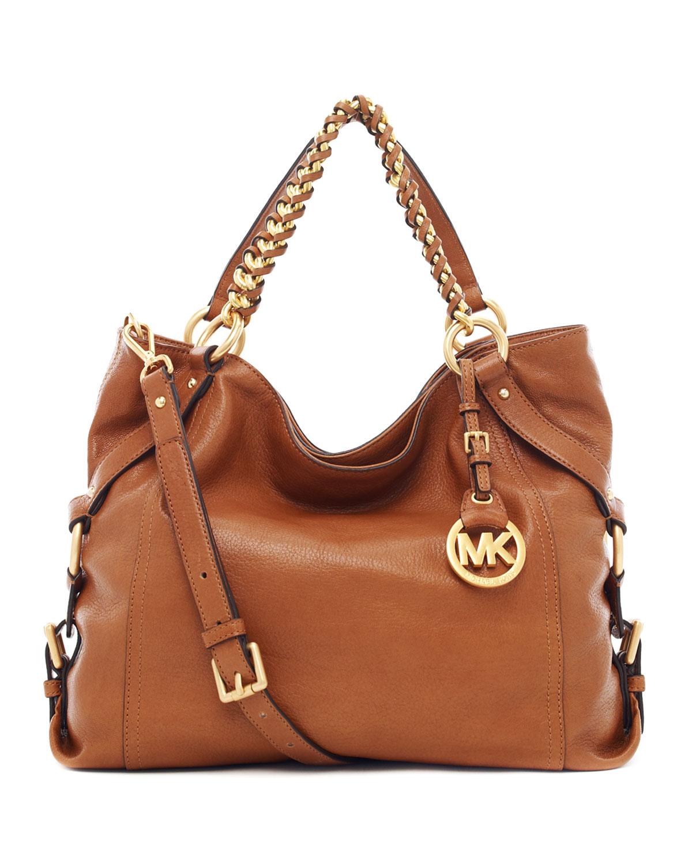 056bc6a299528b MICHAEL Michael Kors Tristan Large Shoulder Tote Bag in Brown - Lyst