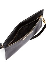 Michael Kors Large Jet Set Flat Saffiano Travel Pouch - Lyst