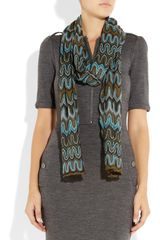 Missoni Crochetknit Scarf in Multicolor (multicolored) - Lyst